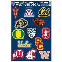 """PAC 12 Conference Multi-Use Decal 11"""" x 17"""""""