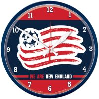 New England Revolution WE ARE NEW ENGLAND Round Wall Clock 12.75""