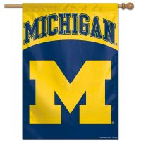 "Michigan Wolverines Vertical Flag 28"" x 40"""