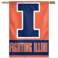 "Illinois Fighting Illini Vertical Flag 28"" x 40"""