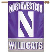 "Northwestern Wildcats Vertical Flag 28"" x 40"""