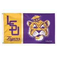 LSU Tigers /College Vault Vault Flag - Deluxe 3' X 5'