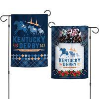 """Kentucky Derby Garden Flags 2 sided 12.5"""" x 18"""" Flat"""