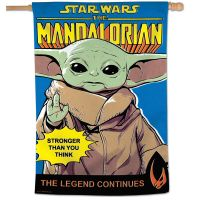 """The Mandalorian / A Star Wars Story THE MANDALORIAN, THE LEGEND CONTIN Vertical Flag 28"""" x 40"""" The Child"""
