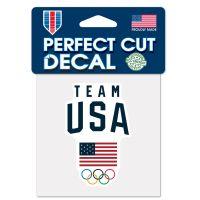 "USOC Team USA Logo Perfect Cut Color Decal 4"" x 4"""