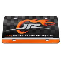 JR Motorsports Specialty Acrylic License Plate