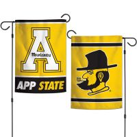 """Appalachian State Mountaineers Garden Flags 2 sided 12.5"""" x 18"""""""
