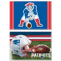 "New England Patriots Rectangle Magnet, 2pack 2"" x 3"""