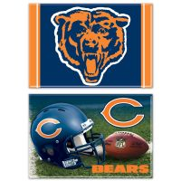 "Chicago Bears Rectangle Magnet, 2pack 2"" x 3"""
