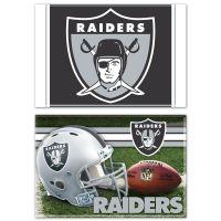 "Las Vegas Raiders Rectangle Magnet, 2pack 2"" x 3"""