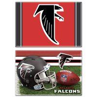 "Atlanta Falcons Rectangle Magnet, 2pack 2"" x 3"""