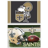 "New Orleans Saints Rectangle Magnet, 2pack 2"" x 3"""
