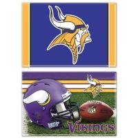 "Minnesota Vikings Rectangle Magnet, 2pack 2"" x 3"""