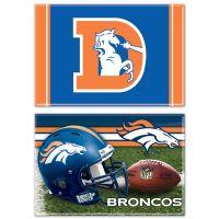 """Denver Broncos Rectangle Magnet, 2pack 2"""" x 3"""""""