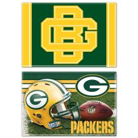 "Green Bay Packers Rectangle Magnet, 2pack 2"" x 3"""