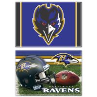 "Baltimore Ravens Rectangle Magnet, 2pack 2"" x 3"""