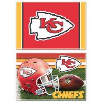 "Kansas City Chiefs Rectangle Magnet, 2pack 2"" x 3"""