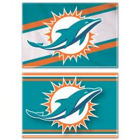 "Miami Dolphins Rectangle Magnet, 2pack 2"" x 3"""