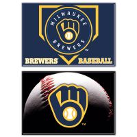 """Milwaukee Brewers Rectangle Magnet, 2pack 2"""" x 3"""""""