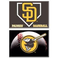 """San Diego Padres Rectangle Magnet, 2pack 2"""" x 3"""""""