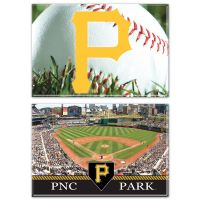 """Pittsburgh Pirates Rectangle Magnet, 2pack 2"""" x 3"""""""