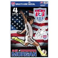 "US Soccer - Womens National Team / U.S. Soccer Multi-Use Decal 11"" x 17"" Alex Morgan"