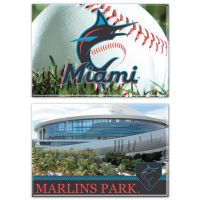 """Miami Marlins Rectangle Magnet, 2pack 2"""" x 3"""""""