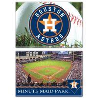 "Houston Astros Rectangle Magnet, 2pack 2"" x 3"""