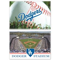 """Los Angeles Dodgers Rectangle Magnet, 2pack 2"""" x 3"""""""