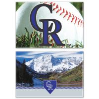 """Colorado Rockies Rectangle Magnet, 2pack 2"""" x 3"""""""