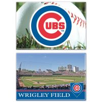 """Chicago Cubs Rectangle Magnet, 2pack 2"""" x 3"""""""