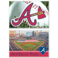 """Atlanta Braves / Stadium MLB Rectangle Magnet, 2pack 2"""" x 3"""""""