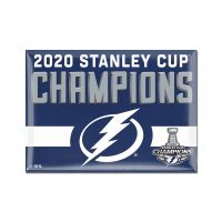 "Stanley Cup Champions Tampa Bay Lightning Metal Magnet 2.5"" x 3.5"""