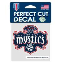 """Washington Mystics Perfect Cut Color Decal 4"""" x 4"""""""