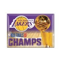 """World Champions Los Angeles Lakers Metal Magnet 2.5"""" x 3.5"""""""