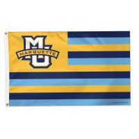 Marquette Golden Eagles / Stars and Stripes NCAA Flag - Deluxe 3' X 5'
