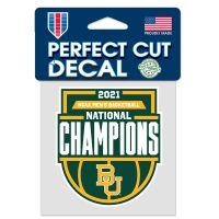 "NCAA Div I Basketball Champ Baylor Bears Mens Final Four Champion Bayl Perfect Cut Color Decal 4"" x 4"""
