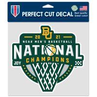 "NCAA Div I Basketball Champ Baylor Bears Mens Final Four Champion Bayl Perfect Cut Color Decal 8"" x 8"""