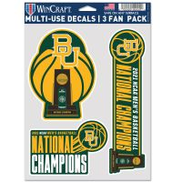 "NCAA Div I Basketball Champ Baylor Bears MENS FINAL FOUR CHAMPION BAYL Multi Use - 3 Fan Pack 5.5"" x 7.75"""