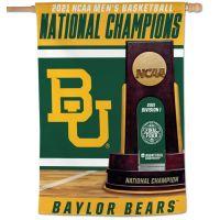 "NCAA Div I Basketball Champ Baylor Bears MENS FINAL FOUR CHAMPION BAYL Vertical Flag 28"" x 40"""