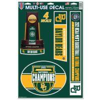 "NCAA Div I Basketball Champ Baylor Bears Mens Final Four Champion Bayl Multi-Use Decal 11"" x 17"""