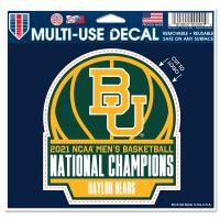 "NCAA Div I Basketball Champ Baylor Bears MENS FINAL FOUR CHAMPION BAYL Multi-Use Decal - cut to logo 5"" x 6"""