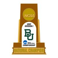 NCAA Div I Basketball Champ Baylor Bears Mens final Four Champion Bayl Collector Pin Jewelry Card