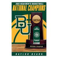 "NCAA Div I Basketball Champ Baylor Bears Mens Final Four Champion Bayl Wood Sign 11"" x 17"" 1/4"" thick"
