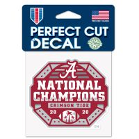 """National Football Champions Alabama Crimson Tide COLLEGE FOOTBALL PLAY Perfect Cut Color Decal 4"""" x 4"""""""