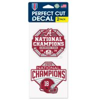 """National Football Champions Alabama Crimson Tide COLLEGE FOOTBALL PLAY Perfect Cut Decal Set of two 4""""x4"""""""