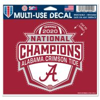 "National Football Champions Alabama Crimson Tide COLLEGE FOOTBALL PLAY Multi-Use Decal - cut to logo 5"" x 6"""