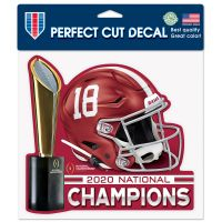 """National Football Champions Alabama Crimson Tide COLLEGE FOOTBALL PLAY Perfect Cut Color Decal 8"""" x 8"""""""