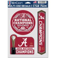 "National Football Champions Alabama Crimson Tide COLLEGE FOOTBALL PLAY Multi Use - 3 Fan Pack 5.5"" x 7.75"""