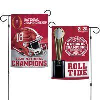 "National Football Champions Alabama Crimson Tide COLLEGE FOOTBALL PLAY Garden Flags 2 sided 12.5"" x 18"""